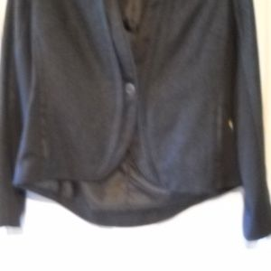 WOMEN'S VERA WANG BLACK WOOL JACKET PETITE SMALL